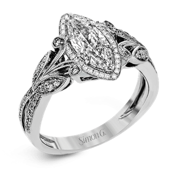 TR629-MQ ENGAGEMENT RING