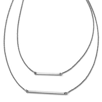Leslie's Sterling Silver Double 1.4 mm Strand with 2in ext. Necklace