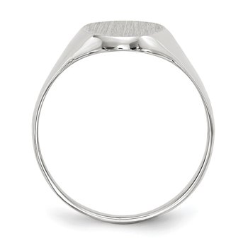 14k White Gold 14.0x9.0mm Closed Back Signet Ring