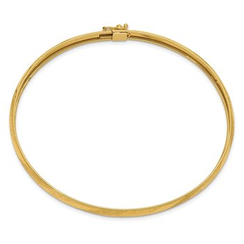 14k Twisted Diamond-cut Flexible Bangle
