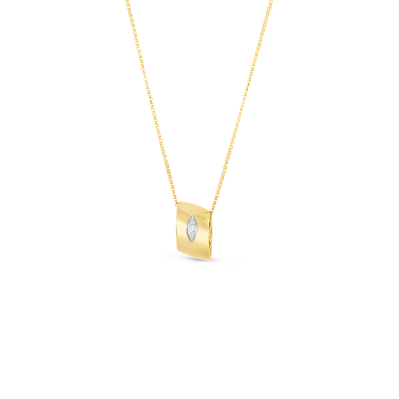 Roberto Coin  #26725 Of 18Kt Gold Pendant With Diamonds