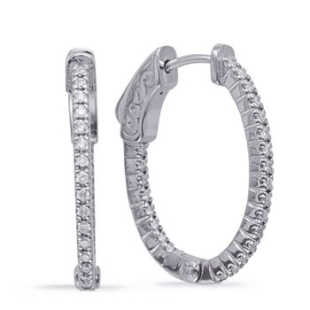 0.90 inch Oval Securehinge Hoop Earring