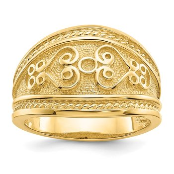 14k Polished Scroll Ring
