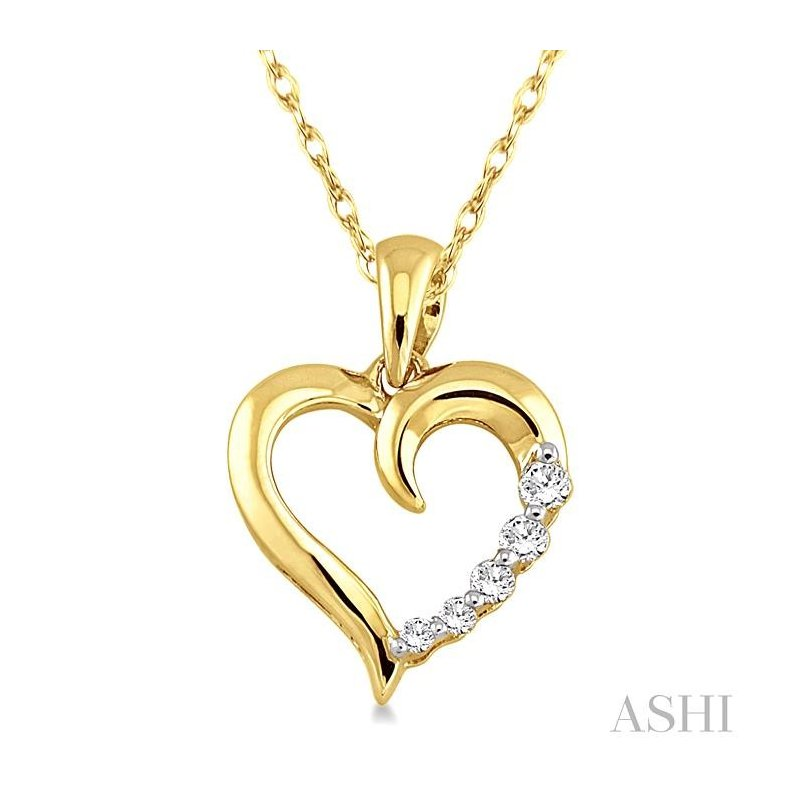 Crocker's Collection journey heart shape diamond pendant