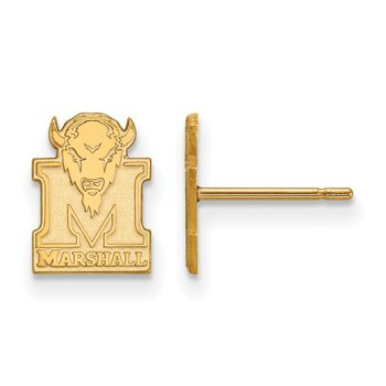 Gold-Plated Sterling Silver Marshall University NCAA Earrings