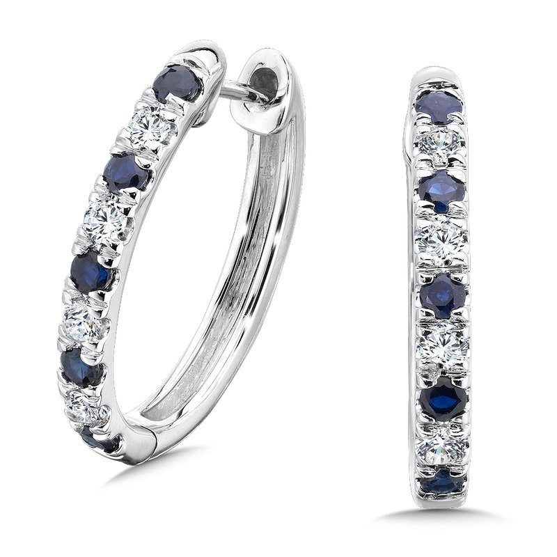 SDC Creations Pave set Diamond Oval Reflection Hoops in 14k White Gold (3/4 ct. tw.) HI/SI2-SI3