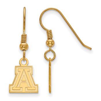 Gold-Plated Sterling Silver University of Arizona NCAA Earrings
