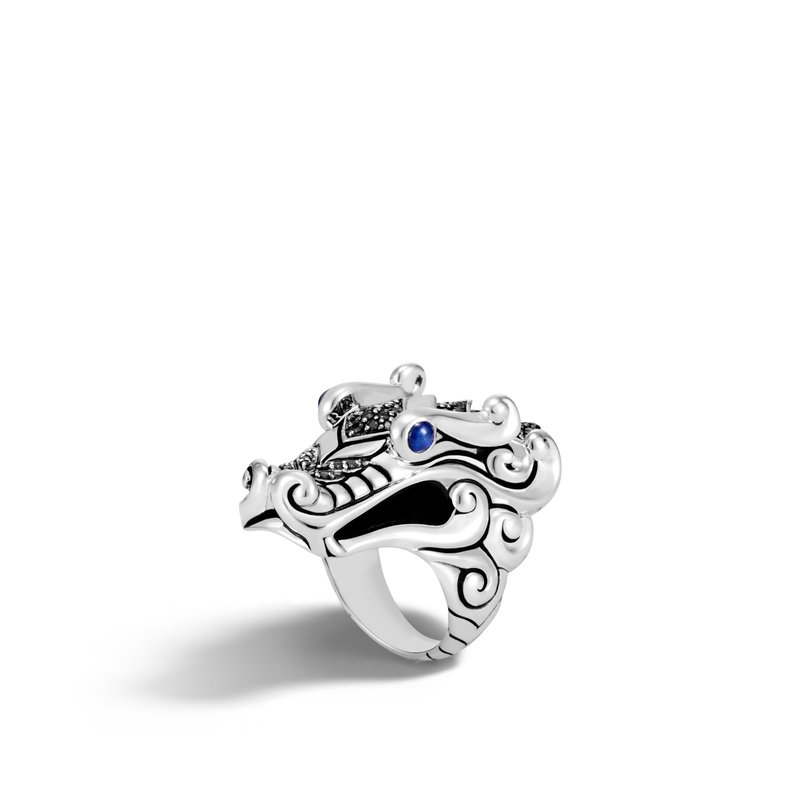 JOHN HARDY Legends Naga Ring in Silver with Gemstone