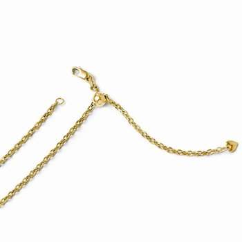Leslie's 14k Adjustable Semi Solid Chain