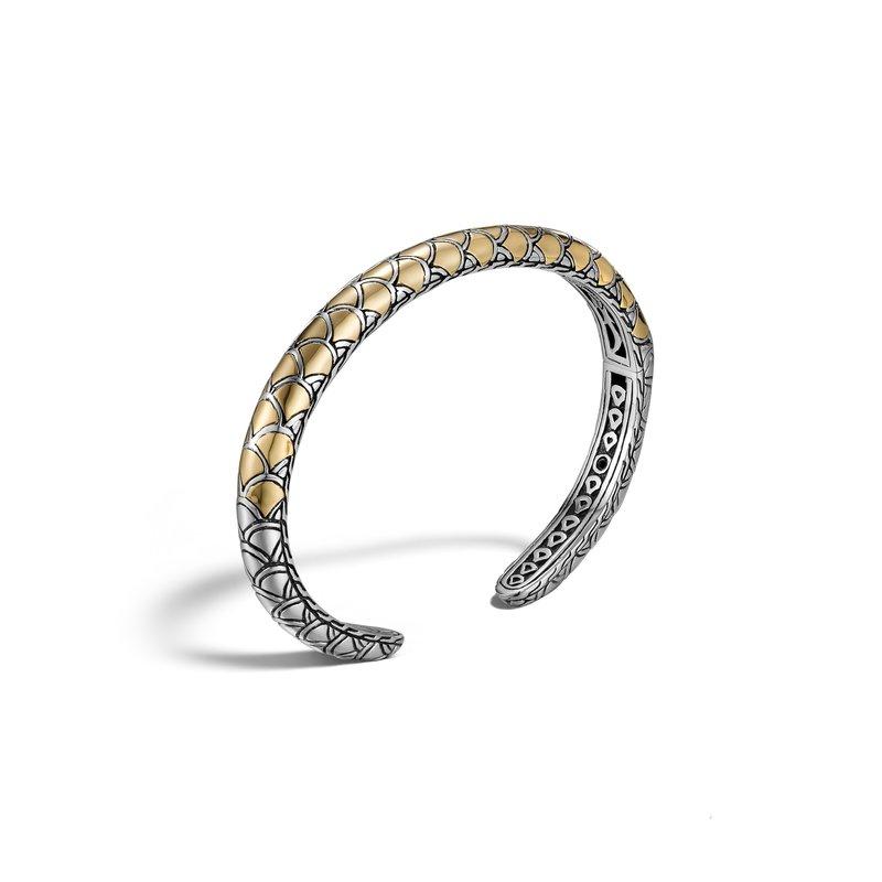 John Hardy 18k Legends Naga Diamond Flex Cuff Bracelet, Size Medium