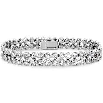 10.9 ctw. HOF Double Bezel Diamond Bracelet