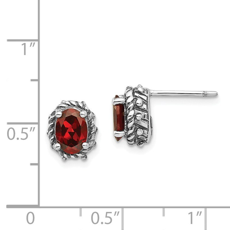 Shey Couture Sterling Silver Garnet Earrings