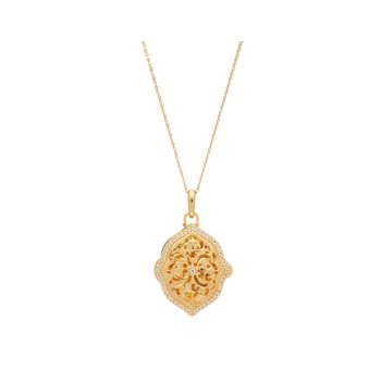 Maggie Locket Necklace Gold
