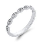 Essentials 10K White Gold Round 1/10 ct Diamond Infinity Band Fashion Ring