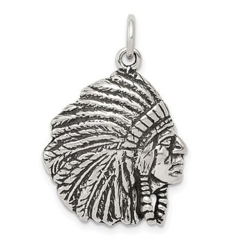 Sterling Silver Antiqued Man Charm