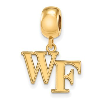 Gold-Plated Sterling Silver Wake Forest University NCAA Bead