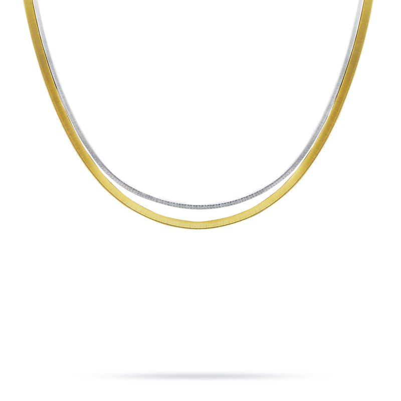 Marco Bicego Masai Two Strand Necklace In Yellow & White Gold