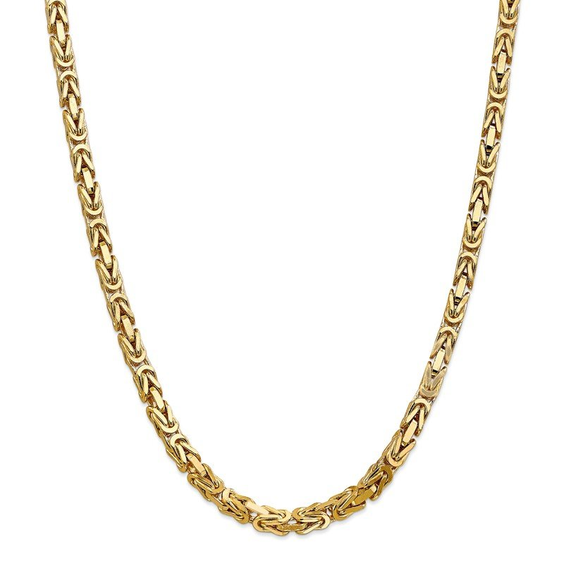 Quality Gold 14k 5.25mm Byzantine Chain