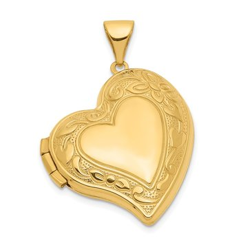 14k Fancy Heart Locket