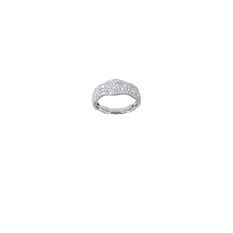 Roberto Coin 18Kt White Gold Diamond Ring