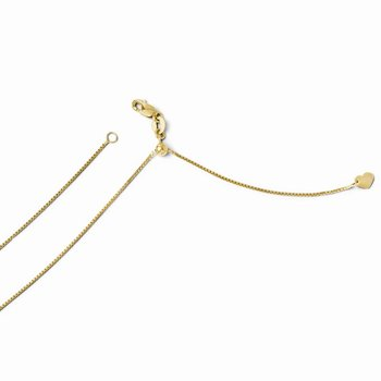 Leslie's 14K .8 mm Adjustable Box Chain
