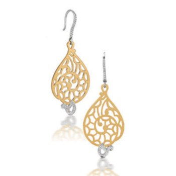 Diamond Two-Tone Fashion Earrings