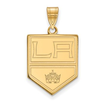 Gold-Plated Sterling Silver Los Angeles Kings NHL Pendant