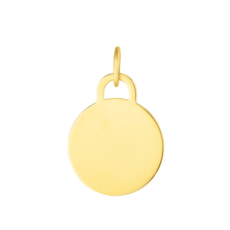 Royal Chain 14K Gold Circle Pendant