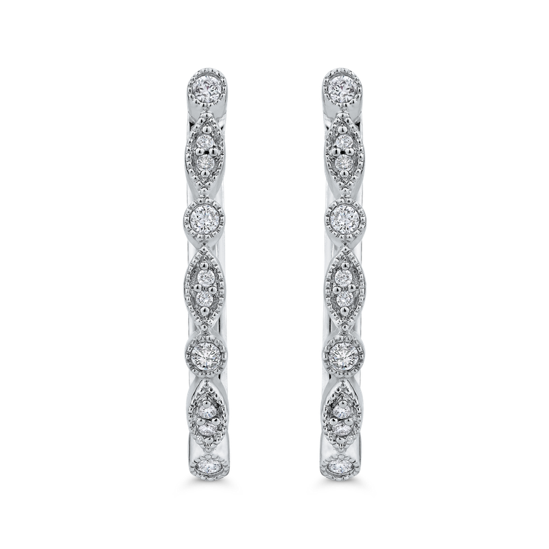 1/5 ct White Diamond Fashion Hoop Earrings