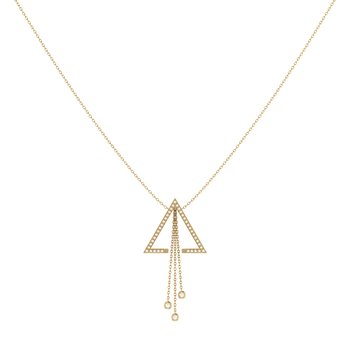 Skyline Lariat Necklace in 14 KT Yellow Gold Vermeil on Sterling Silver