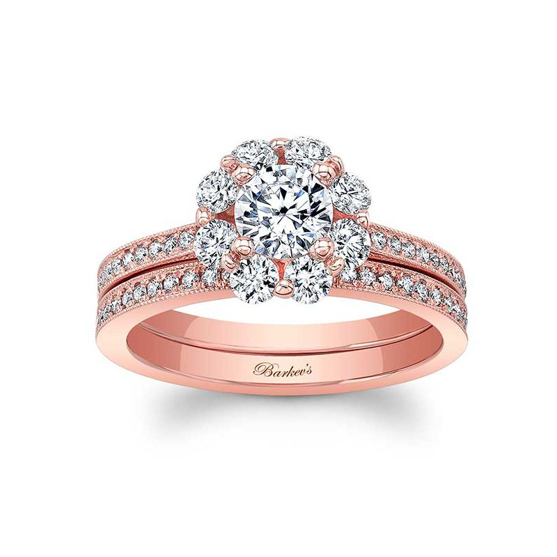Barkev's Rose Gold Bridal Set