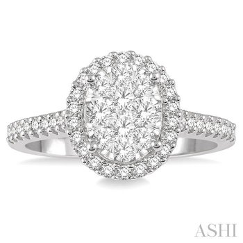 oval shape lovebright essential diamond ring