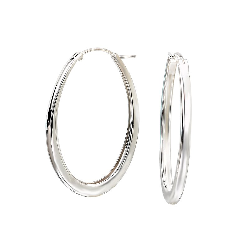 Eleganza Ladies Fashion Hoop Earrings