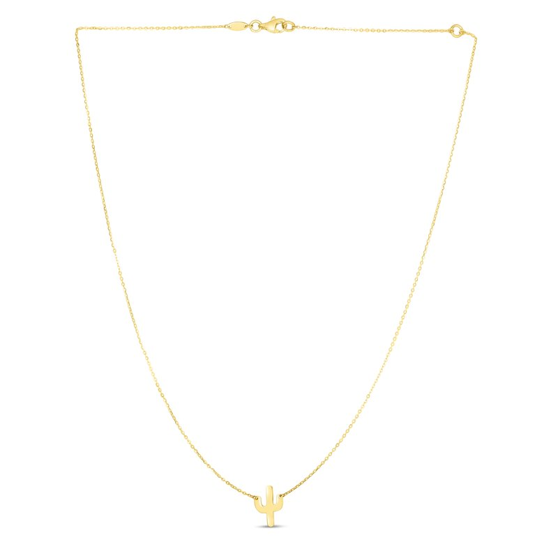 Royal Chain 14K Gold Mini Cactus Necklace