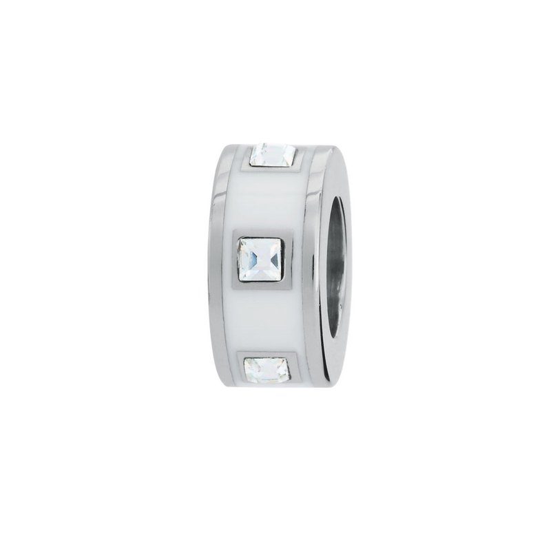Brosway 316L stainless steel, white enamel and Swarovski® Elements crystals