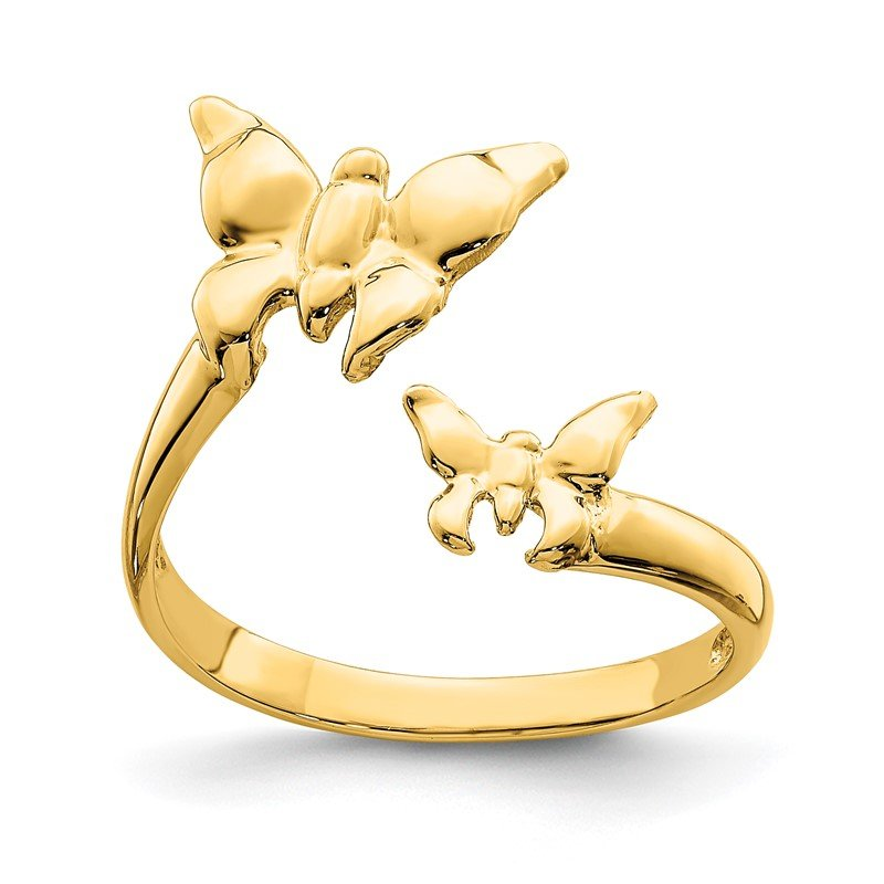 Quality Gold 14K Polished Butterfly Toe Ring