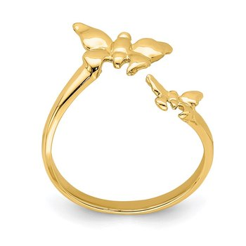 14K Polished Butterfly Toe Ring