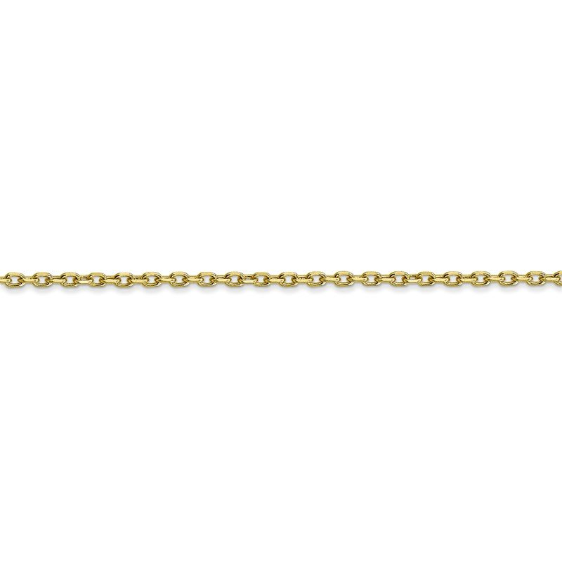 Quality Gold 10k 1.8mm D/C Cable Chain