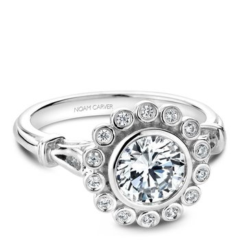 Noam Carver Floral Engagement Ring B170-01A