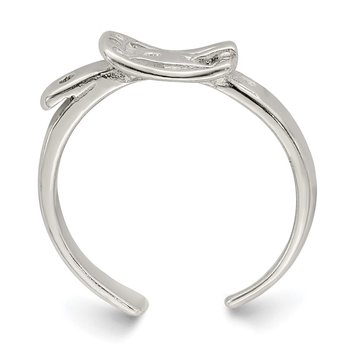 Sterling Silver Antiqued Buckle Toe Ring