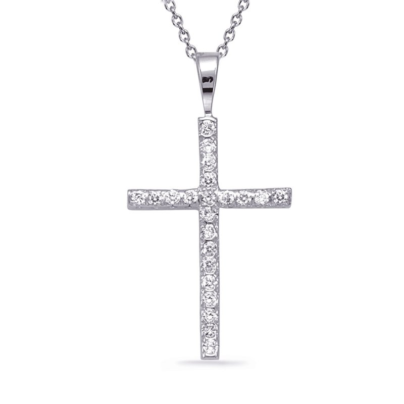S. Kashi  & Sons Diamond Cross Pendant Plat