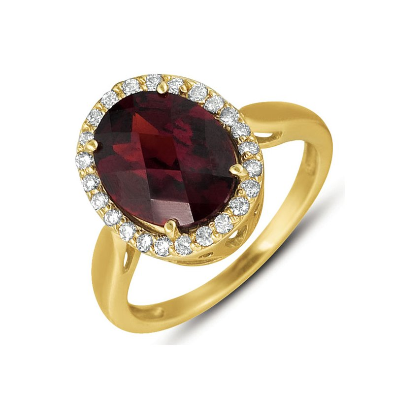 S. Kashi  & Sons Garnet & Diamond Ring