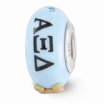 Sterling Silver Alpha Xi Delta Greek Life Bead