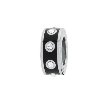 316L stainless steel, black enamel and Swarovski® Elements crystals