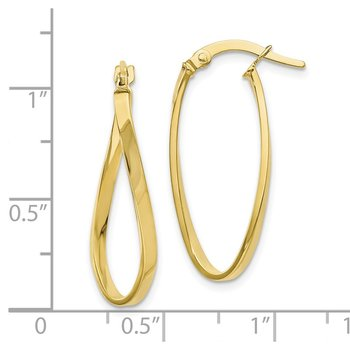 Leslie's 10K Twist Hoop Earrings