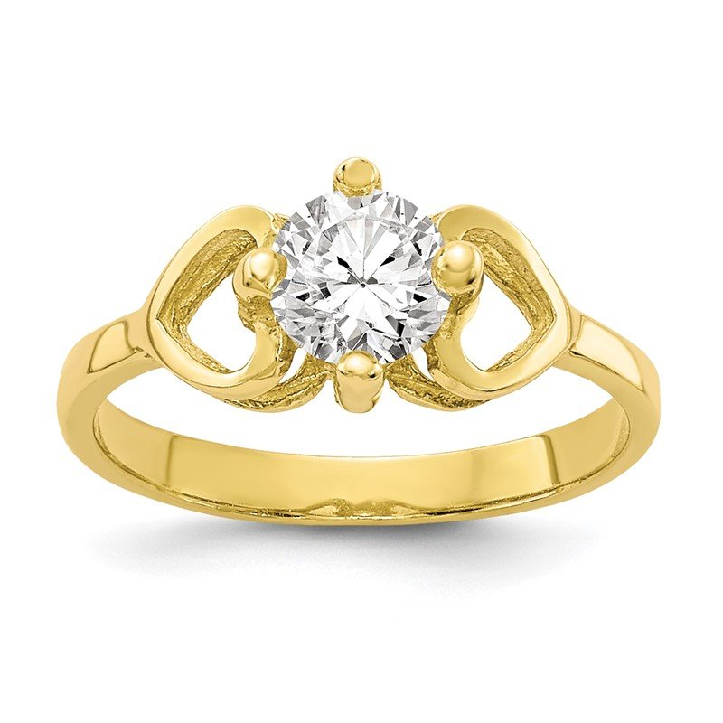 Quality Gold 10k CZ Polished Baby Ring