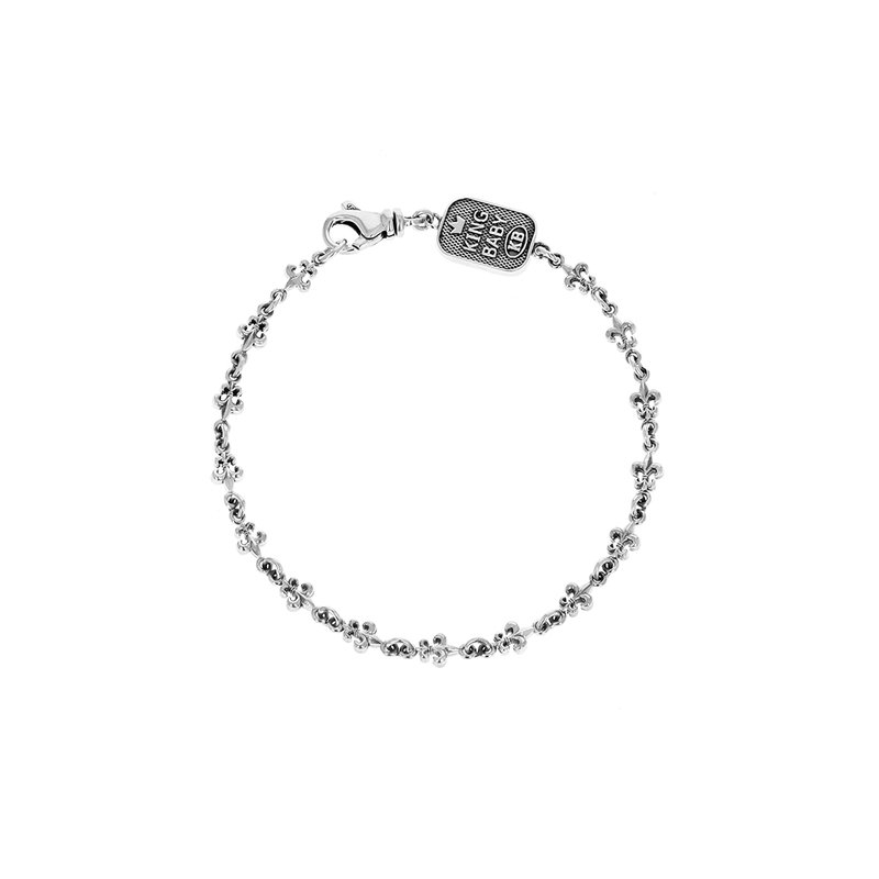 King Baby Small Fdl Chain Bracelet