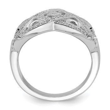 Sterling Silver Micro Pav? with Intricate Designs Ring