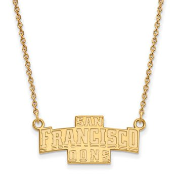 Gold-Plated Sterling Silver University of San Francisco NCAA Necklace