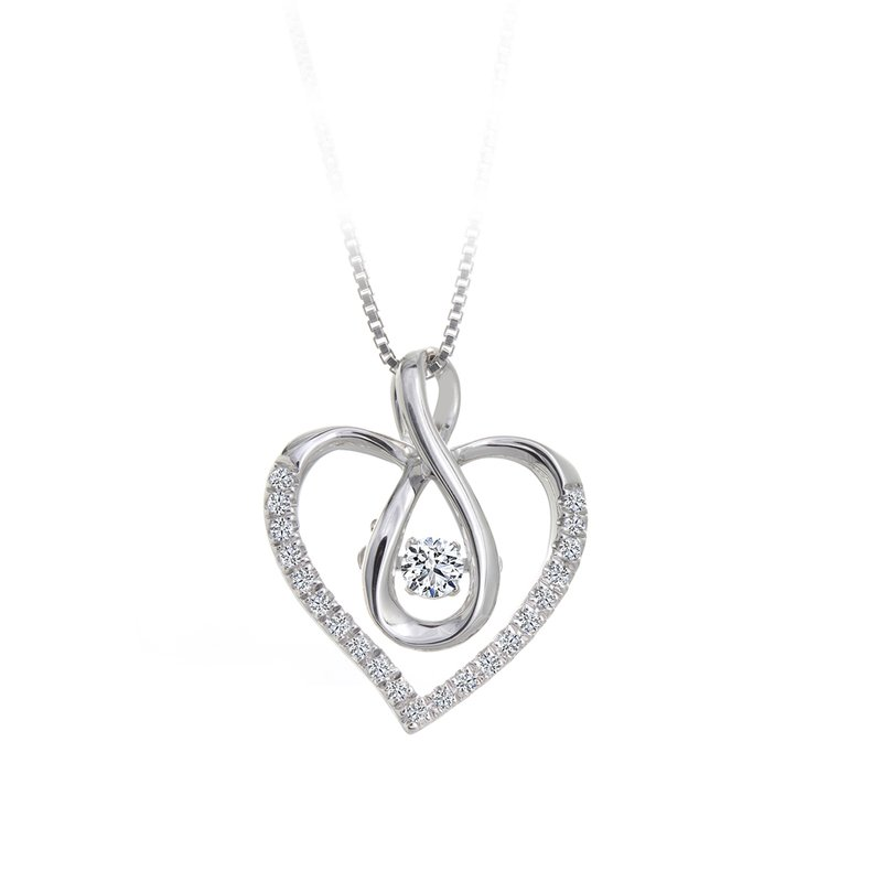 Canadian Rocks Heart-Shaped Shimmering Diamond Pendant
